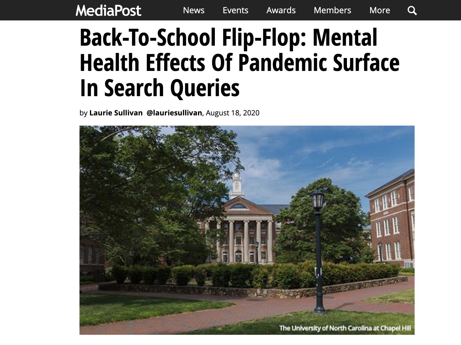 MediaPost: Back-To-School Flip-Flop – Mental Health Effects Of Pandemic Surface In Search Queries