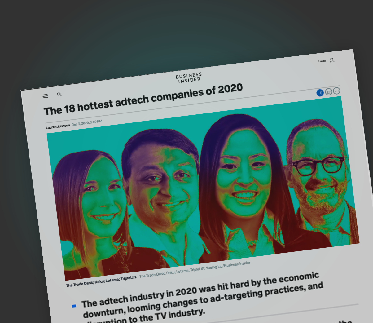 Business Insider Names Captify One Of The 'Hottest Adtech Companies of 2020'