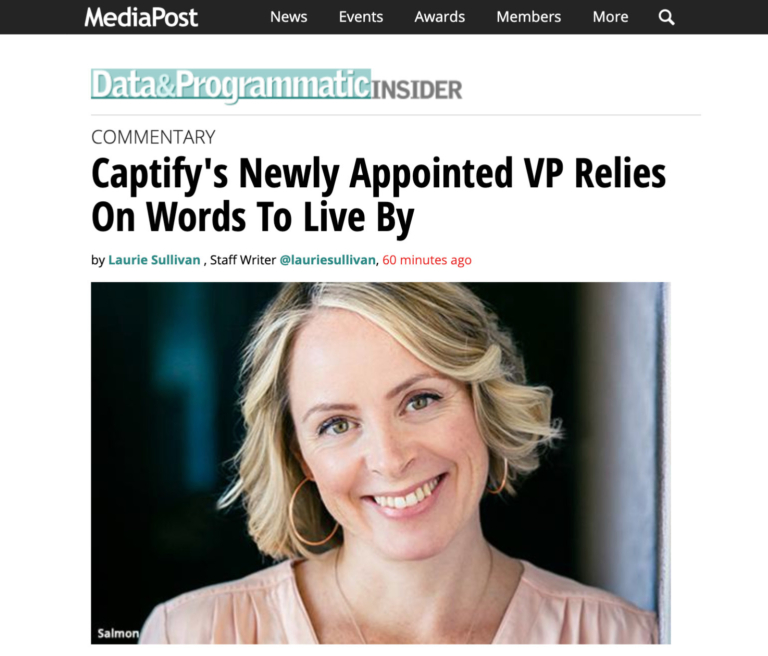 MediaPost: Captify's Newly Appointed VP Partnerships, EMEA Relies On Words To Live By