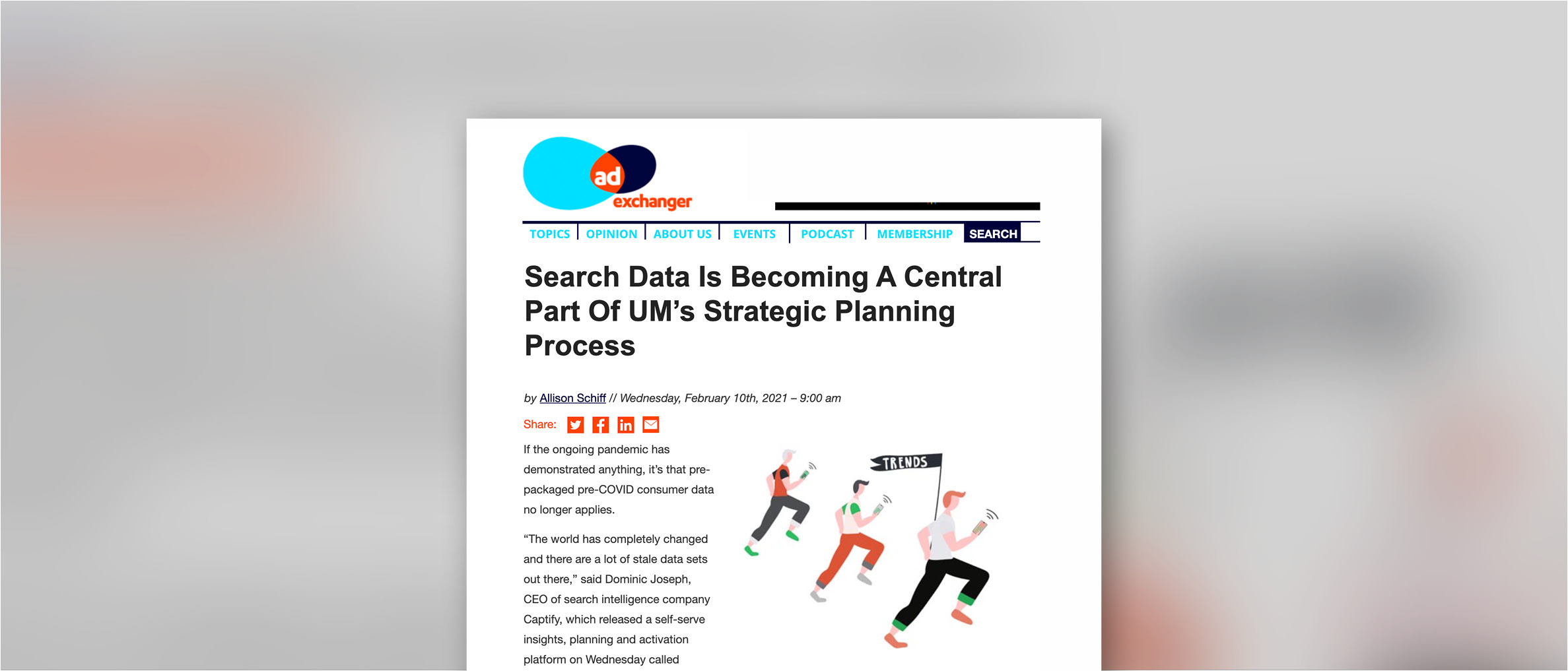 AdExchanger: Search Data Is Becoming A Central Part Of UM's Strategic Planning Process