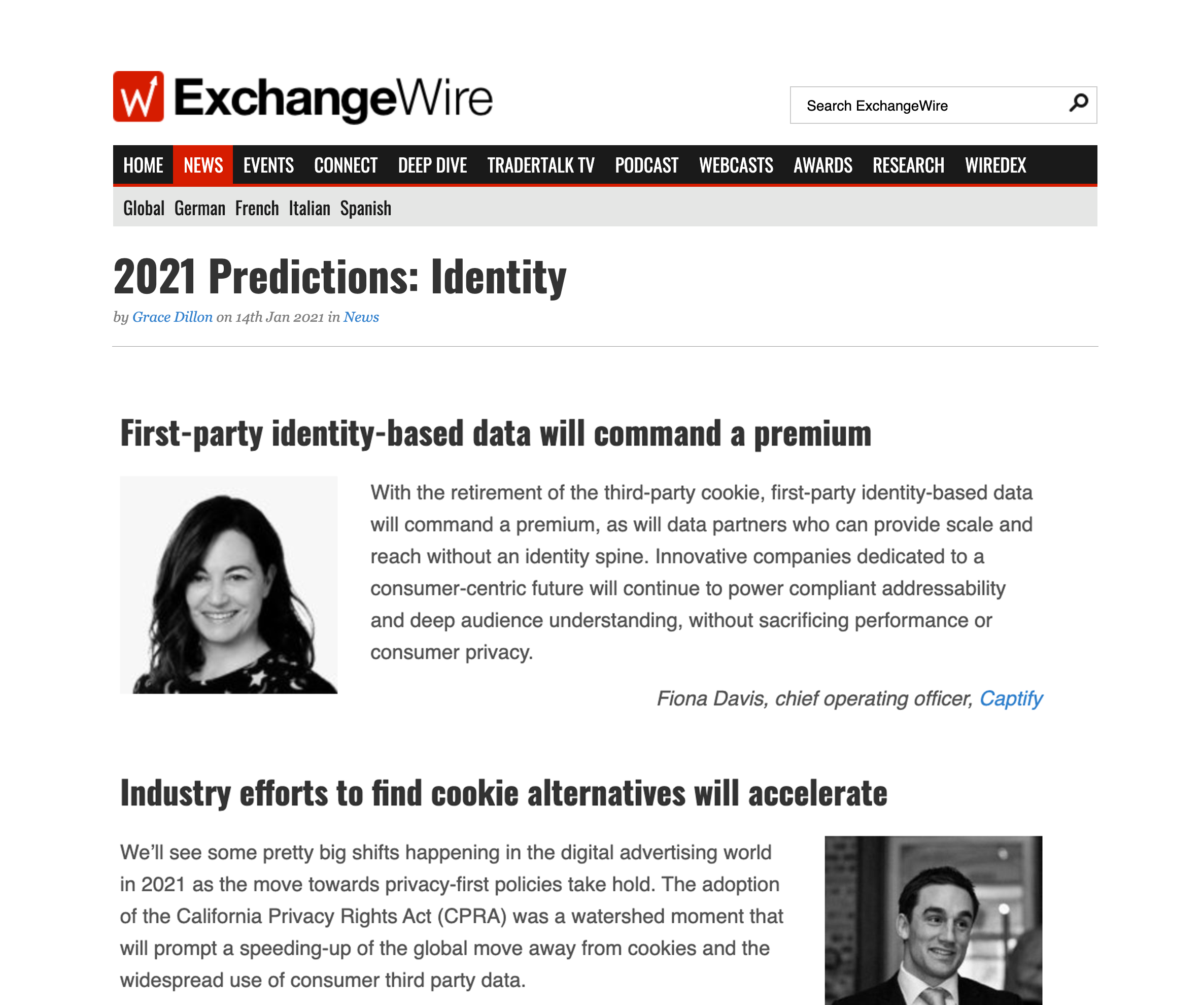 ExchangeWire: 2021 Predictions on Identity