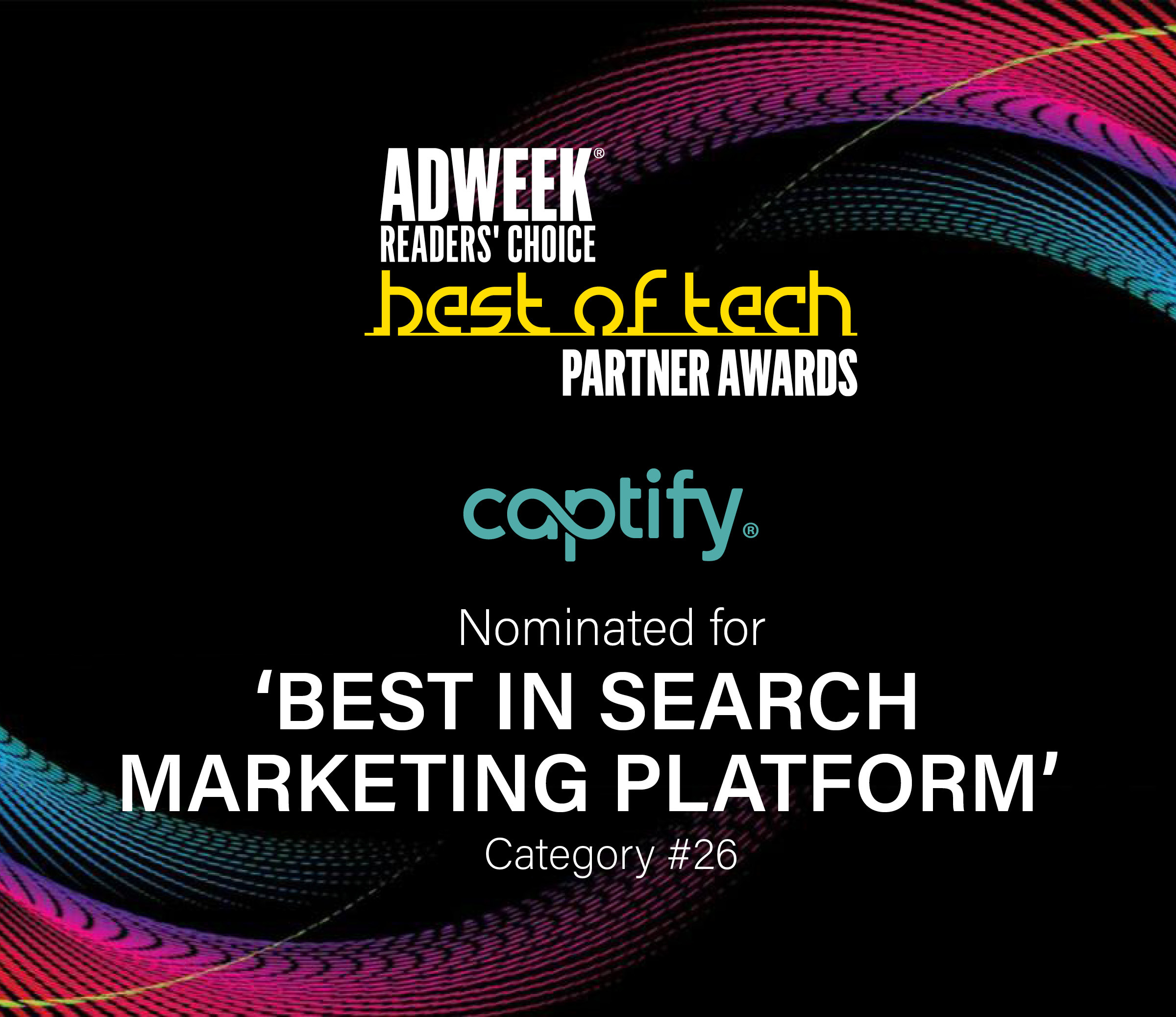 Captify Nominated At Adweek's Best Of Tech Partner Awards