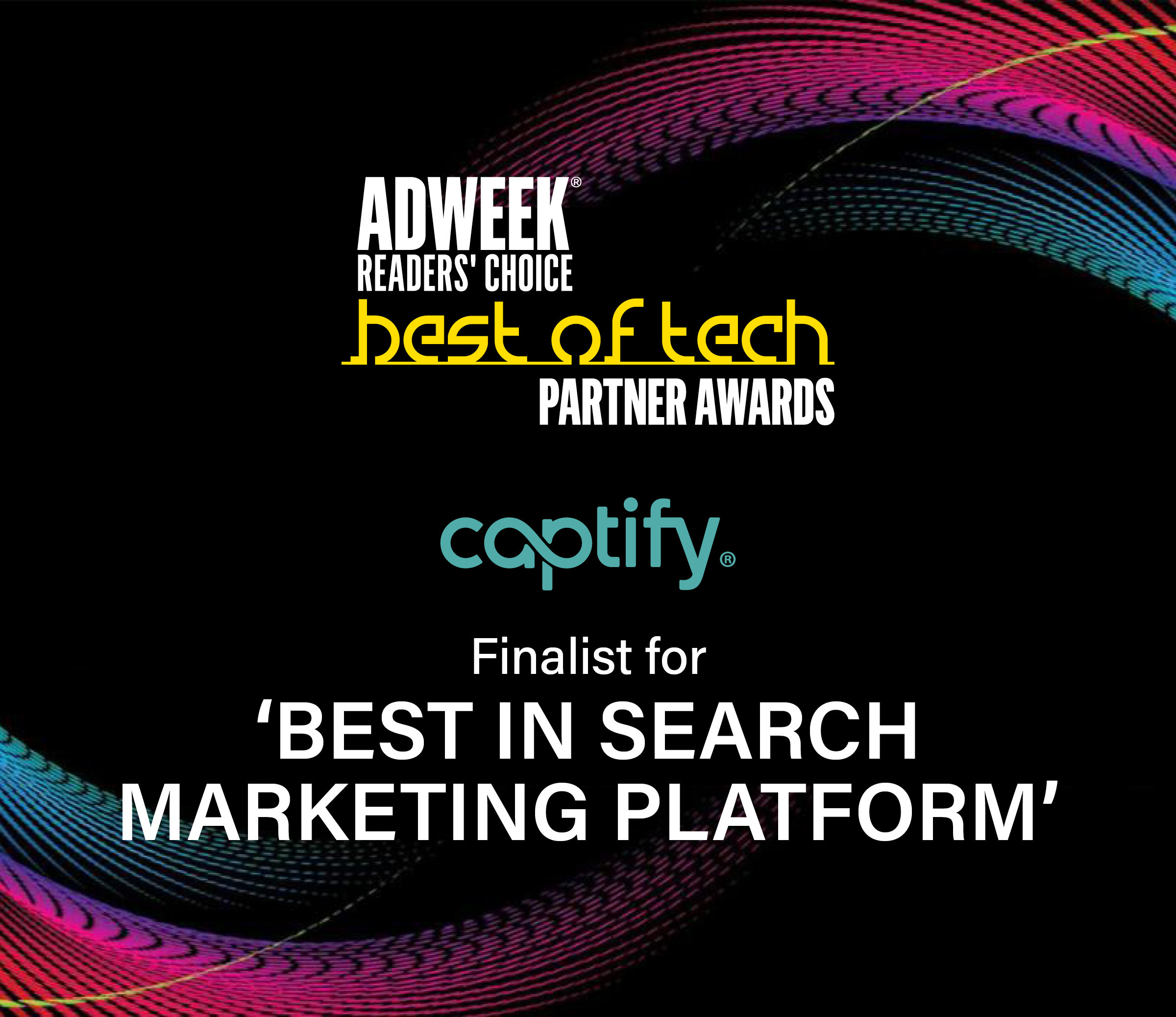 Captify Is Named A Finalist For Adweek's Best Of Tech Partner Awards