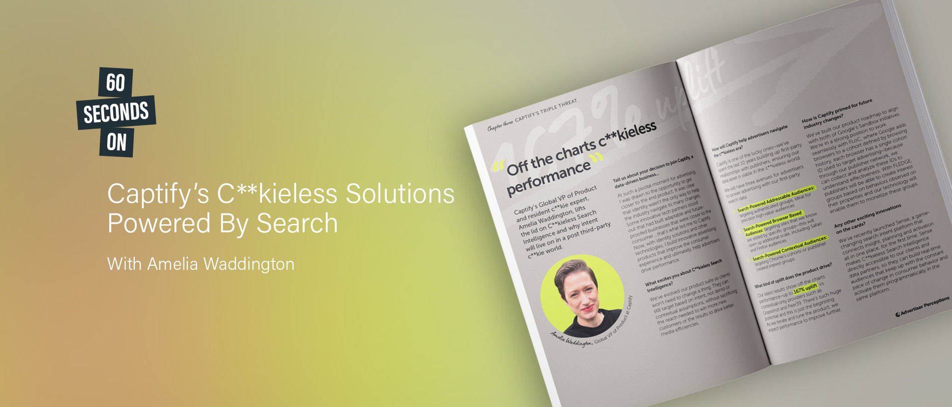 60 Seconds On: Captify's C**kieless Solutions Powered By Search—With Amelia Waddington