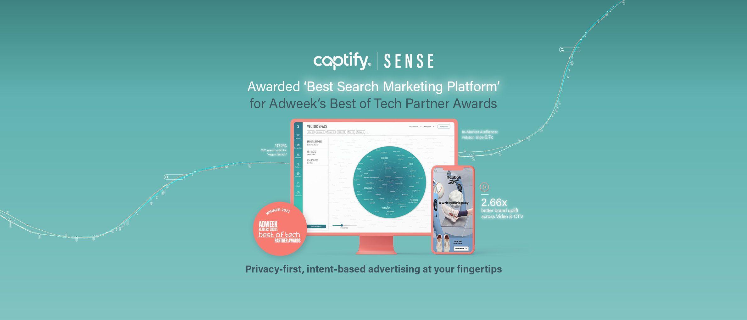 Captify's Sense Awarded 'Best Search Marketing Platform' For Adweek's Best Of Tech Partner Awards
